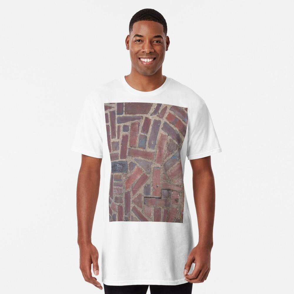 Surfaces, brick, wall, unstandard, pattern Long T-Shirt
