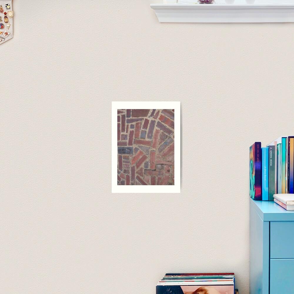 Surfaces, brick, wall, unstandard, pattern Art Print