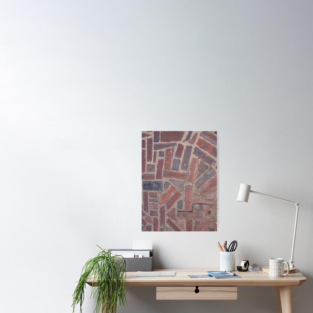 Surfaces, brick, wall, unstandard, pattern Poster