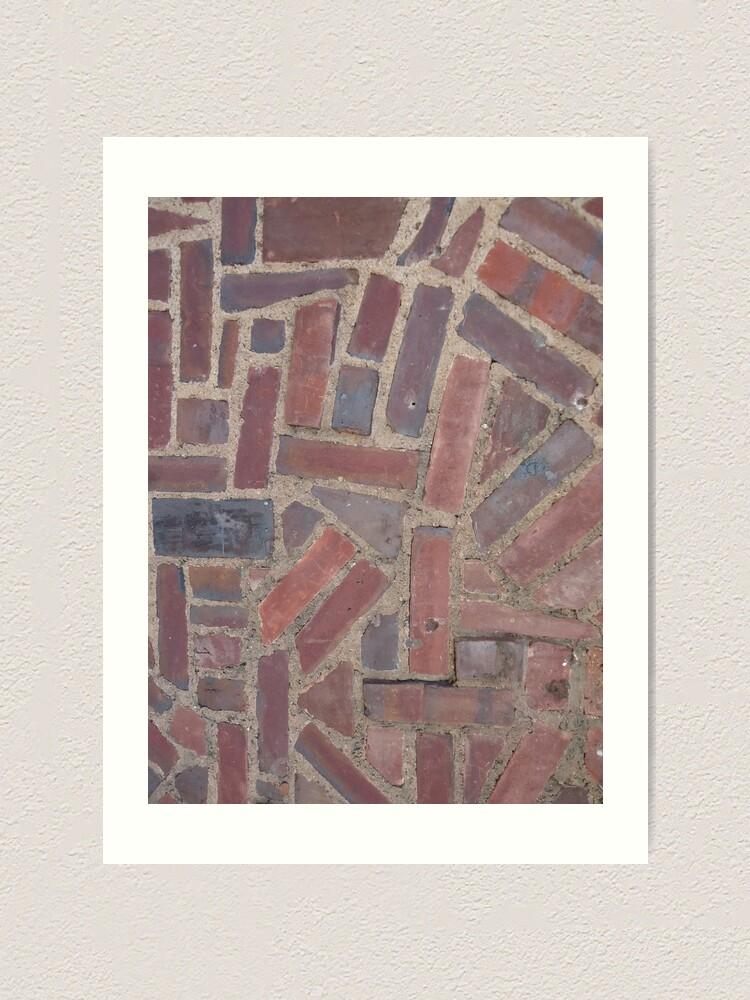 Alternate view of Surfaces, brick, wall, unstandard, pattern Art Print