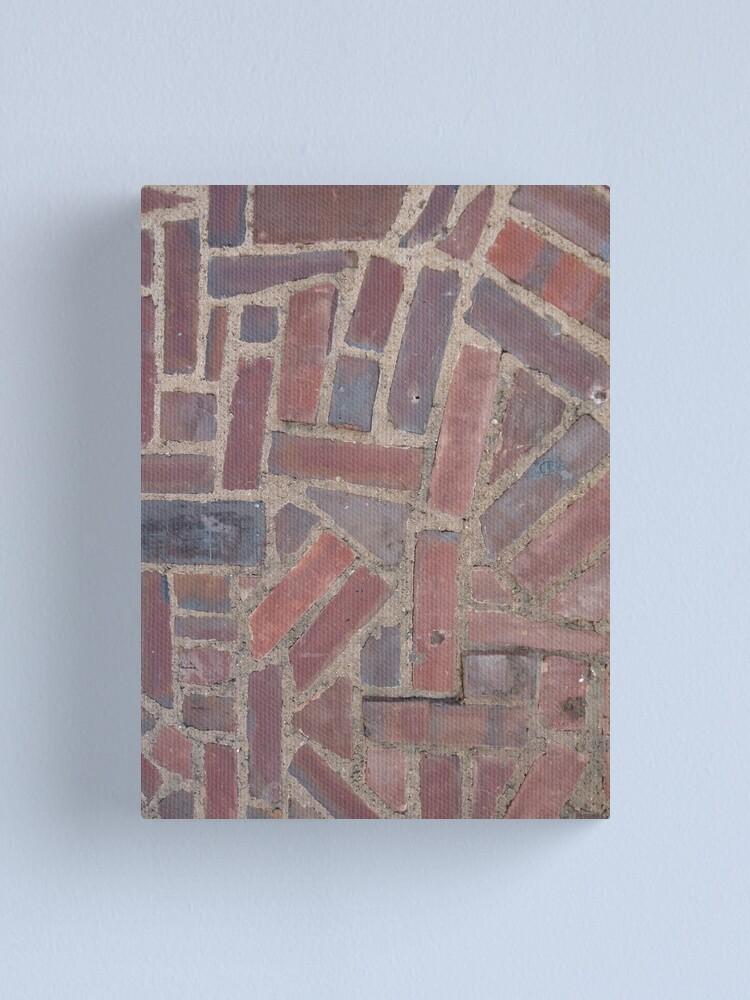 Alternate view of Surfaces, brick, wall, unstandard, pattern Canvas Print