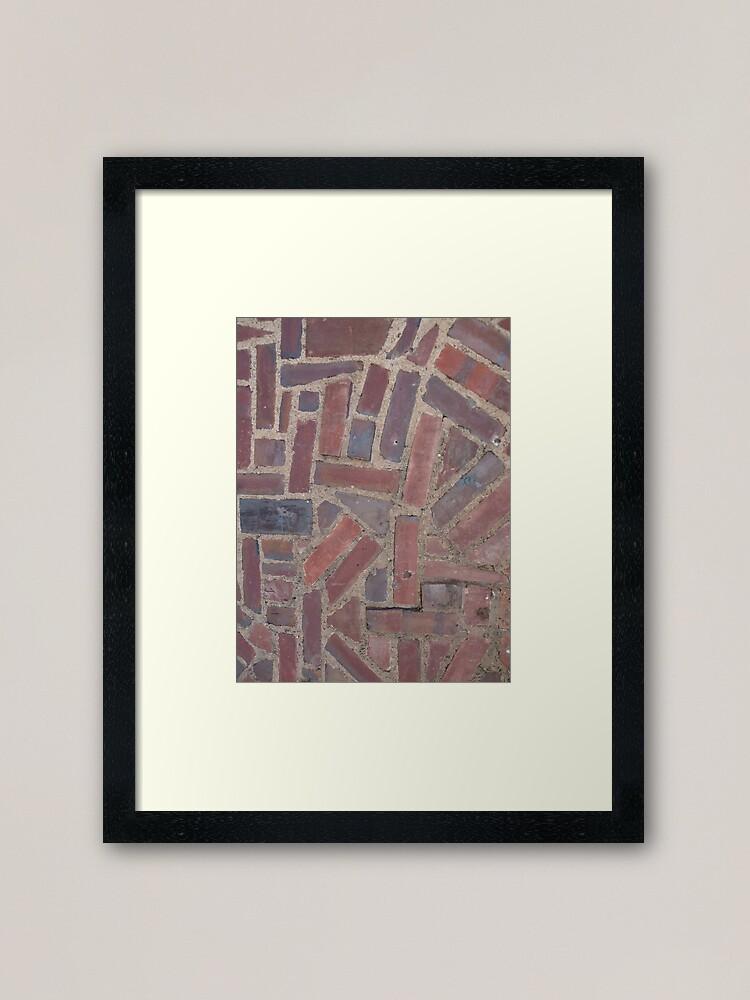 Alternate view of Surfaces, brick, wall, unstandard, pattern Framed Art Print