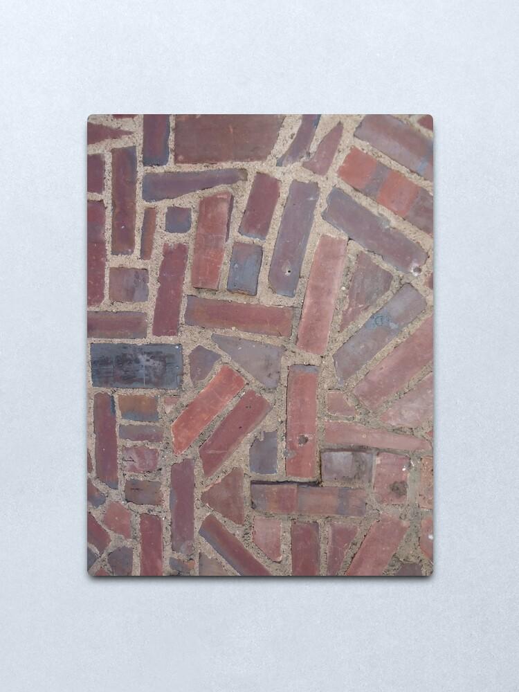 Alternate view of Surfaces, brick, wall, unstandard, pattern Metal Print