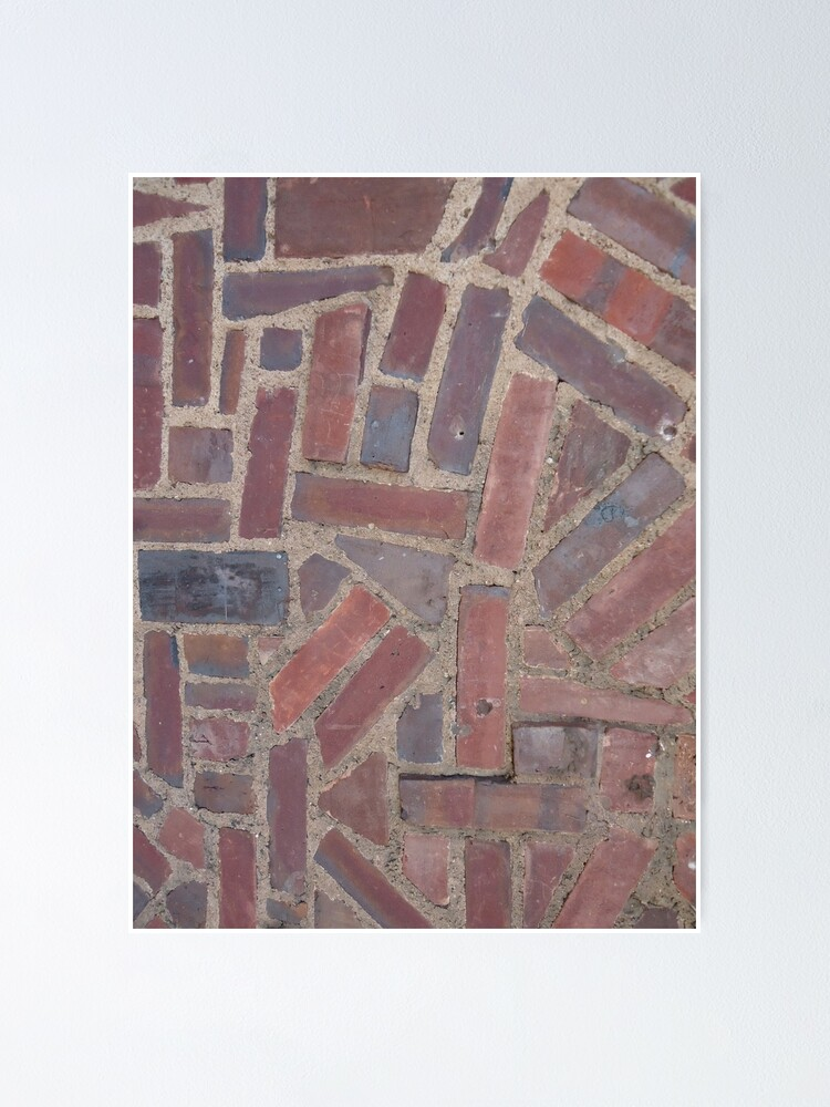 Alternate view of Surfaces, brick, wall, unstandard, pattern Poster