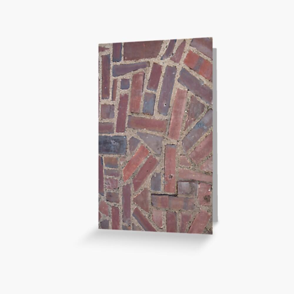 Surfaces, brick, wall, unstandard, pattern Greeting Card