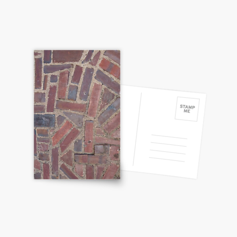 Surfaces, brick, wall, unstandard, pattern Postcard