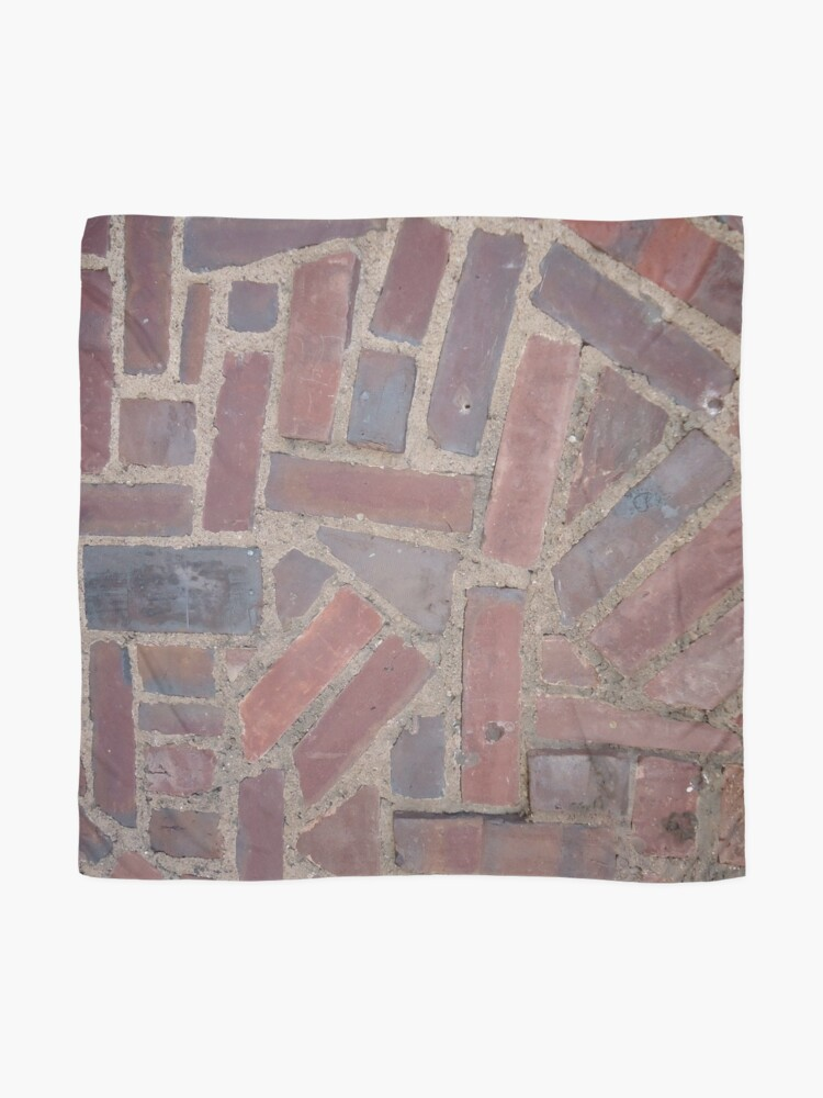 Alternate view of Surfaces, brick, wall, unstandard, pattern Scarf