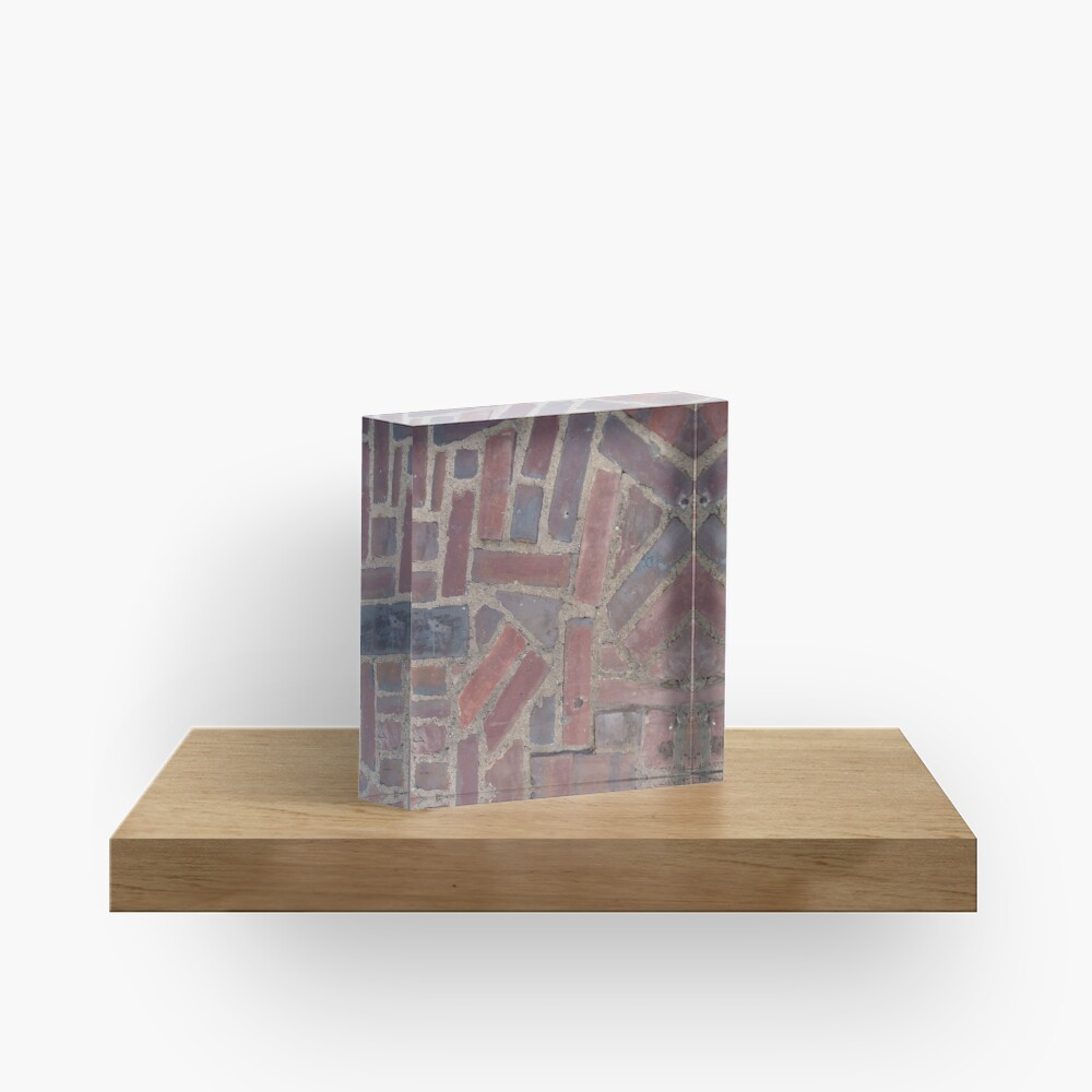 Surfaces, brick, wall, unstandard, pattern Acrylic Block