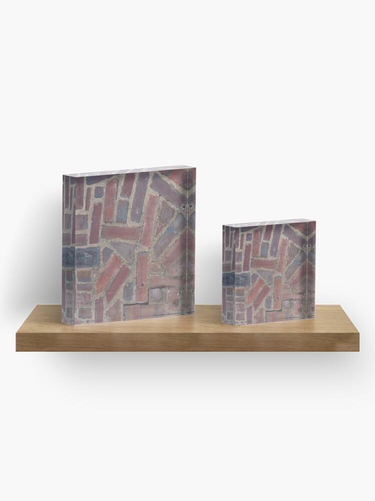 Alternate view of Surfaces, brick, wall, unstandard, pattern Acrylic Block