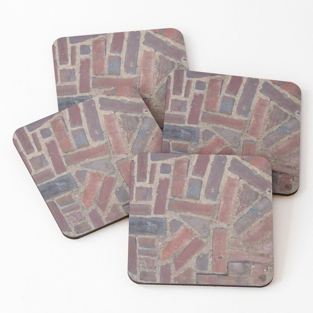 Surfaces, brick, wall, unstandard, pattern Coasters (Set of 4)