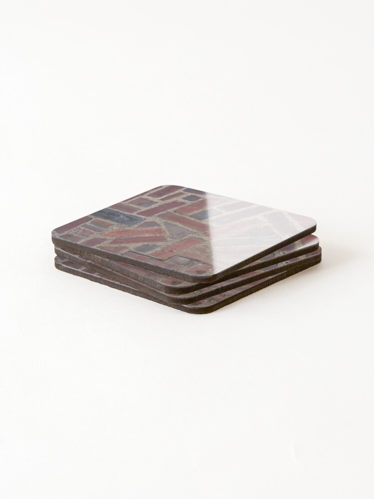 Alternate view of Surfaces, brick, wall, unstandard, pattern Coasters (Set of 4)