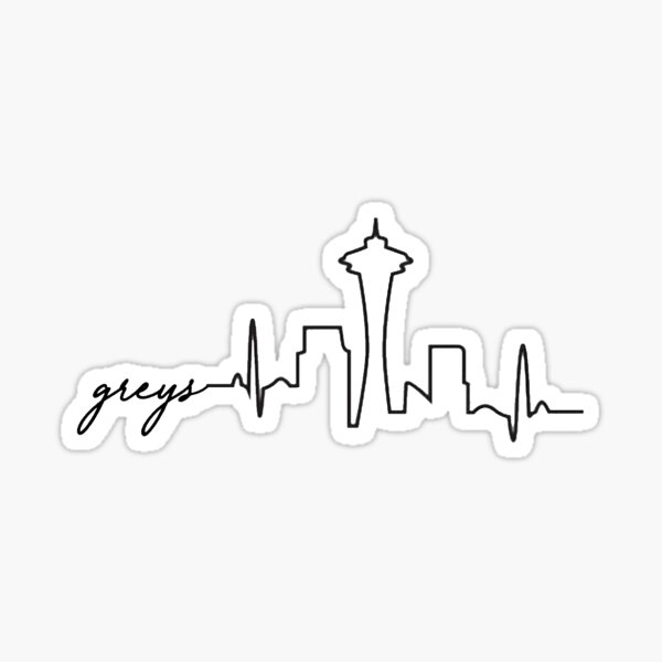 Greys Skyline Sticker