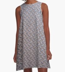 Surfaces, metal, pattern, door, basement A-Line Dress