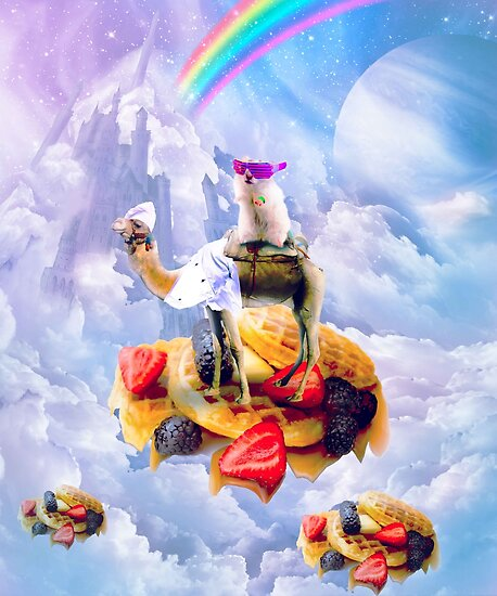 Hamster Riding Camel On Clouds And Waffles by SkylerJHill