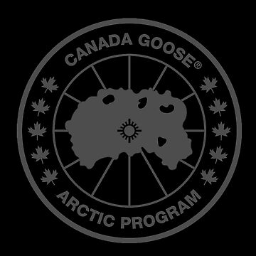 Canada Goose logo in black tshirt by Eryav