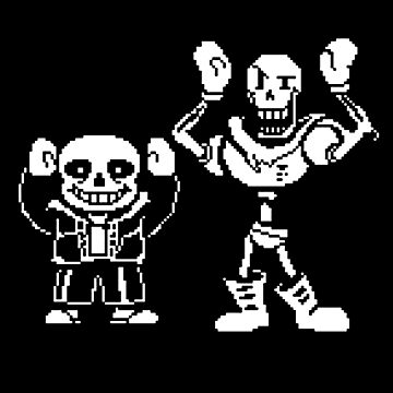 Sans and Papyrus by gelaslampu90