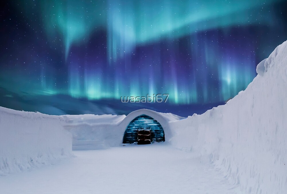 Northern Lights Above Igloo by wasabi67