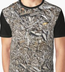 Surfaces, woody, mulch, broken, sticks, ground Graphic T-Shirt