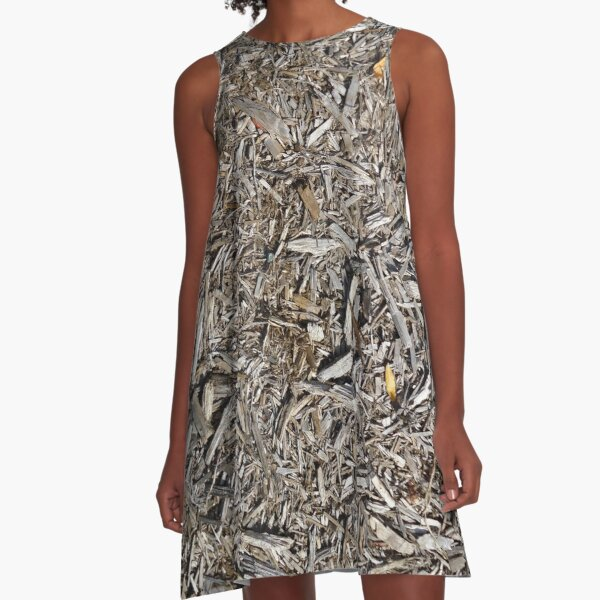 Surfaces, woody, mulch, broken, sticks, ground A-Line Dress
