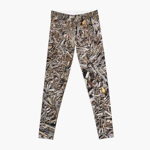 Surfaces, woody, mulch, broken, sticks, ground Leggings