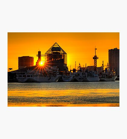 First sunrise of the New Year, 2009; Tokyo Bay, Japan Photographic Print
