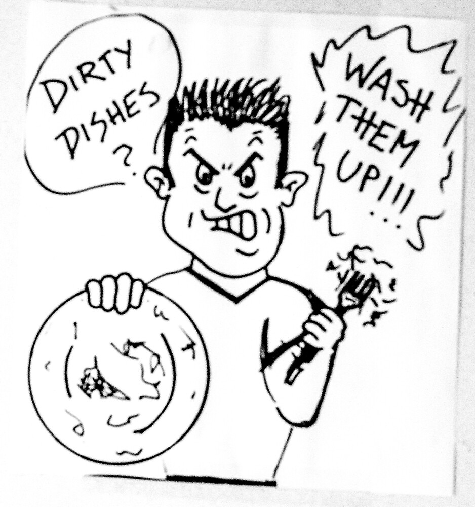 """Line Art """"Dirty Dishes"""" by Indigo73"""