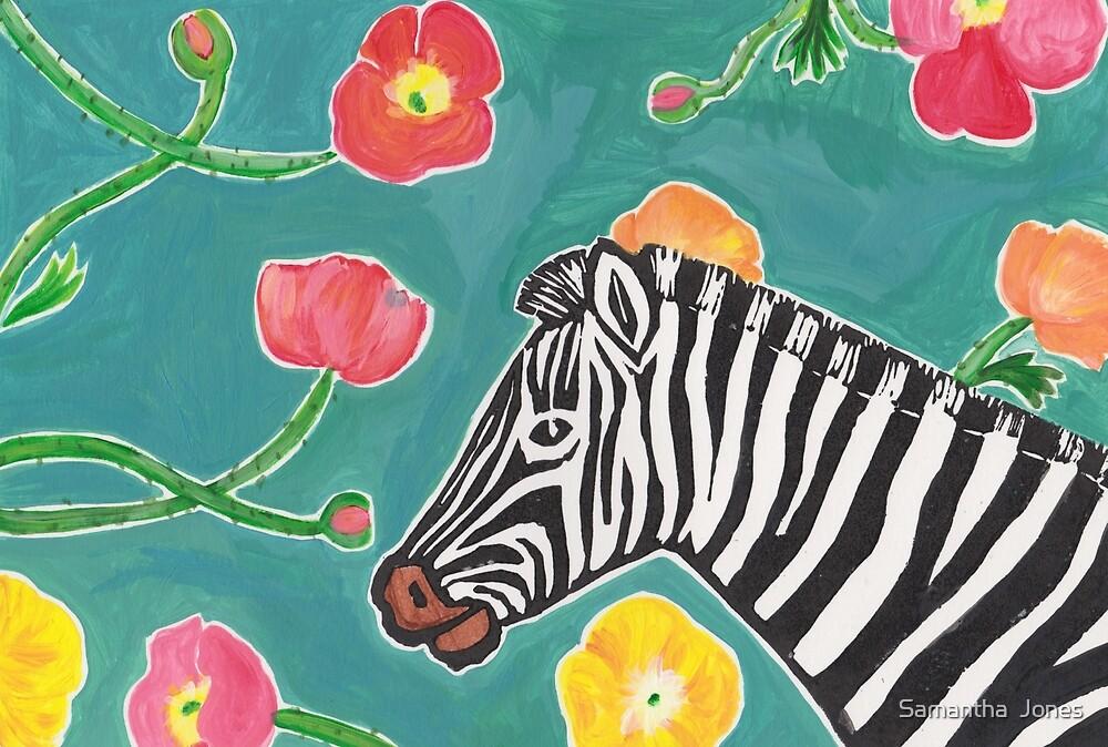 Shiloh the Zebra print #1 by Samantha  Jones