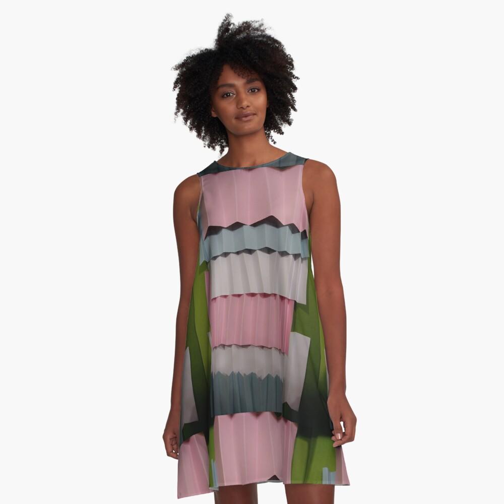 3D Surface A-Line Dress