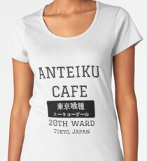 Camiseta premium de cuello ancho Anteiku Cafe