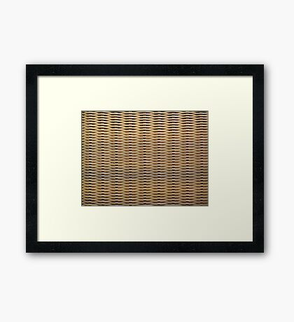 Wicker Chair Texture Framed Print
