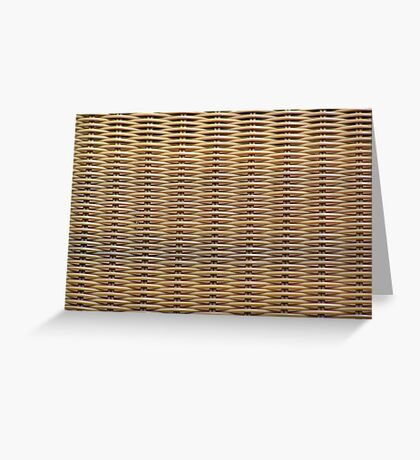 Wicker Chair Texture Greeting Card