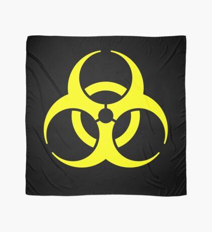 Biohazard Yellow on Black Scarf