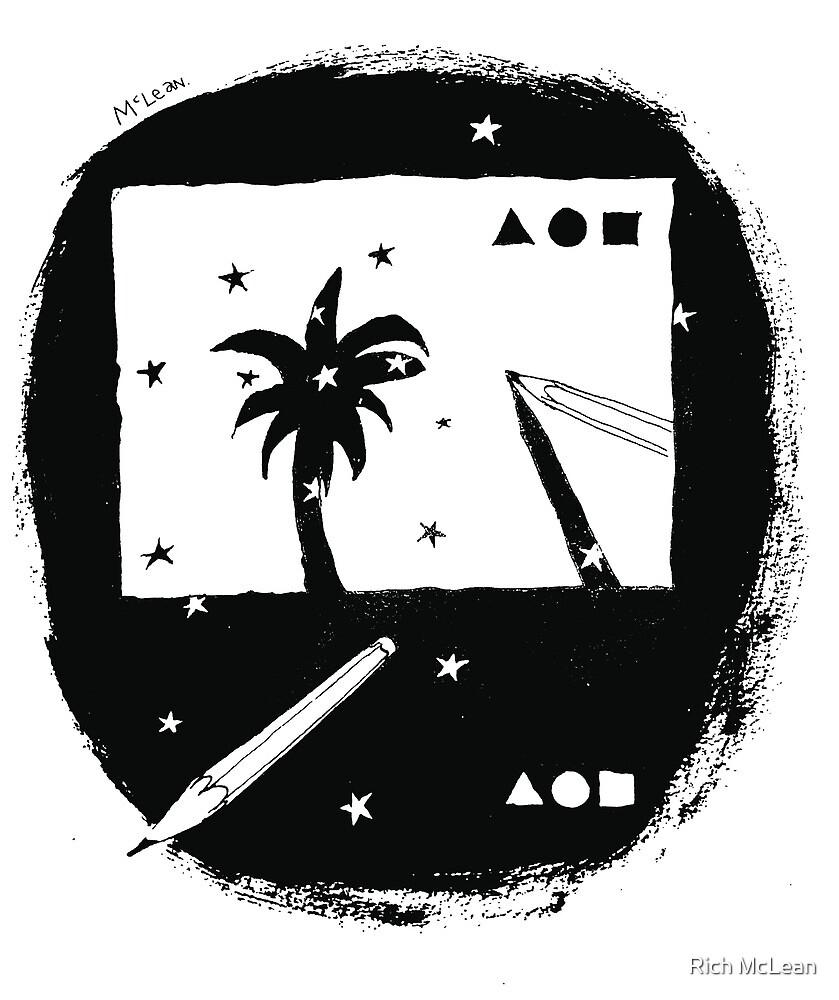Palm Postcard by Rich McLean by Rich McLean