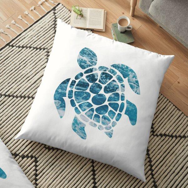 Ocean Sea Turtle Floor Pillow