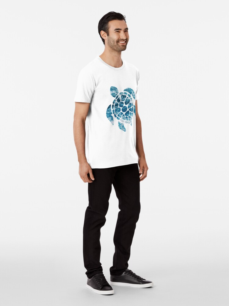 Alternate view of Ocean Sea Turtle Premium T-Shirt