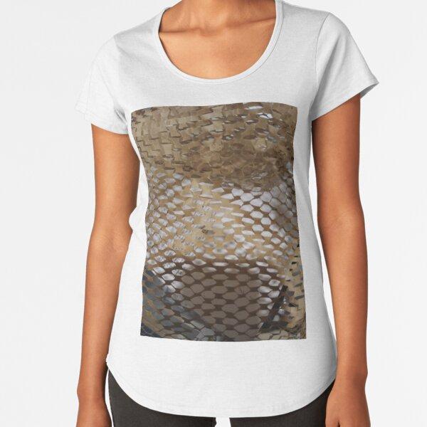 #Pattern, #design, #abstract, #art, illustration, square, illusion, paper, decoration Premium Scoop T-Shirt
