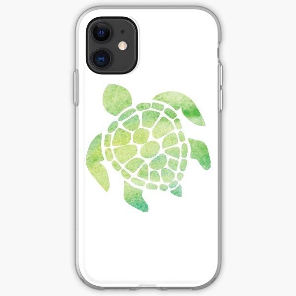 Watercolor Sea Turtle iPhone Soft Case