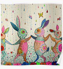 raving rabbits  Poster