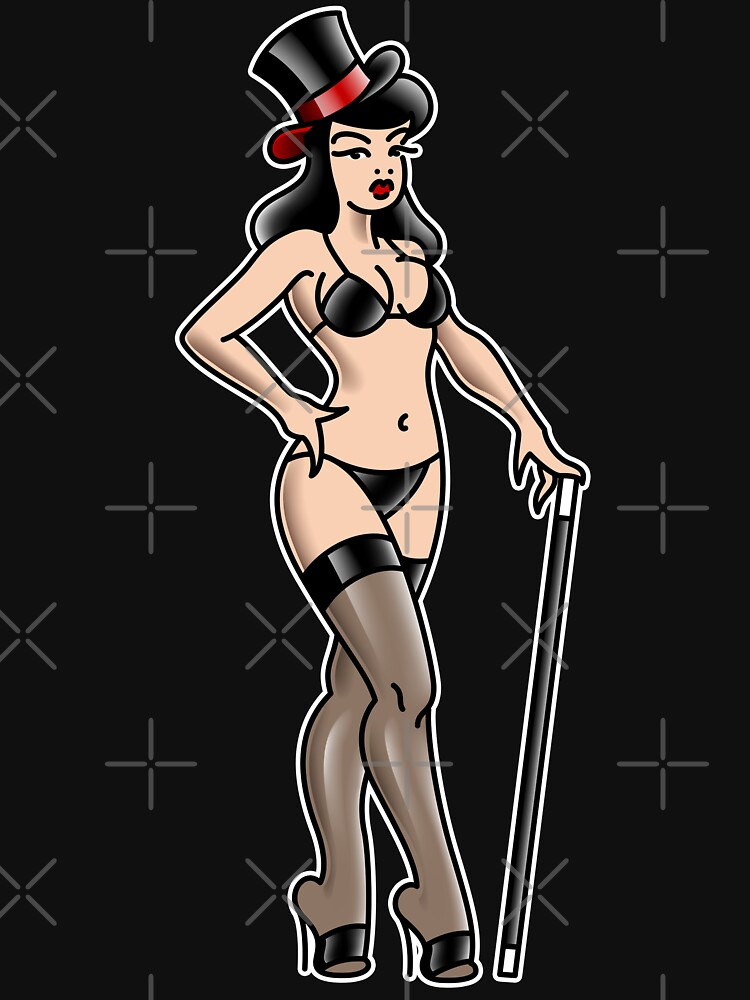 American Traditional Burlesque Pin-up by salty-dog