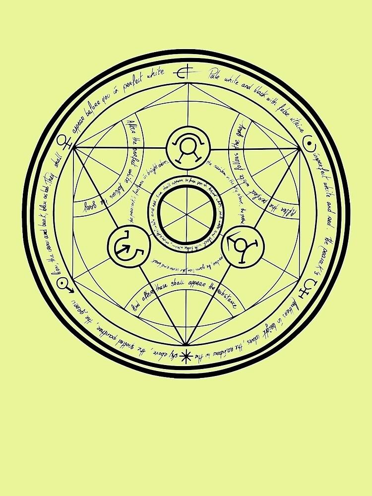 Fullmetal Alchemist transmutation circle by Zippointheworld