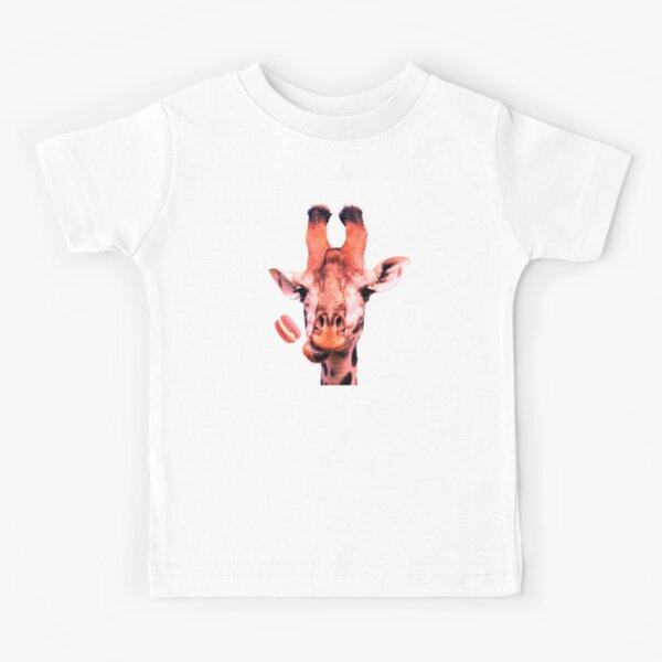 Lovely giraffe with macaron by Alice Monber Kids T-Shirt