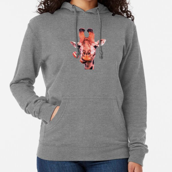 Lovely giraffe with macaron by Alice Monber Lightweight Hoodie