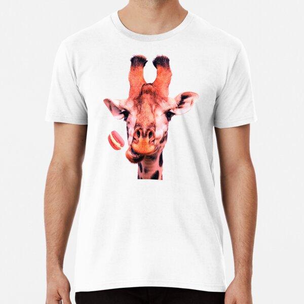 Lovely giraffe with macaron by Alice Monber Premium T-Shirt