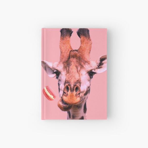 Lovely giraffe with macaron by Alice Monber Hardcover Journal