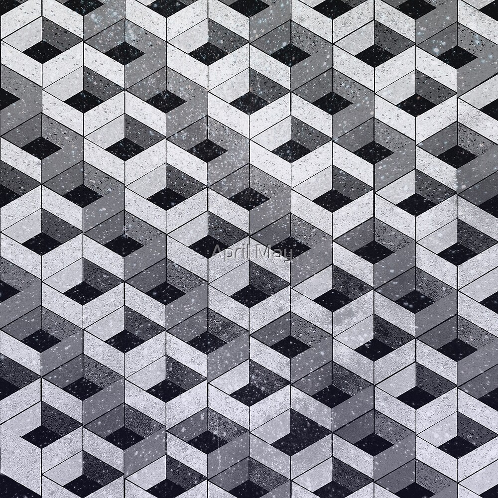 Black cube pattern by April May