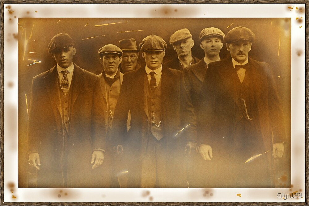 Peaky Blinders vintage distressed faded sepia photograph in frame Trending by Glyn123