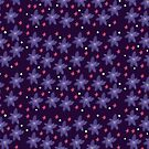 Purple and Pink Flowers Pattern 2018 by Fiona Lokot