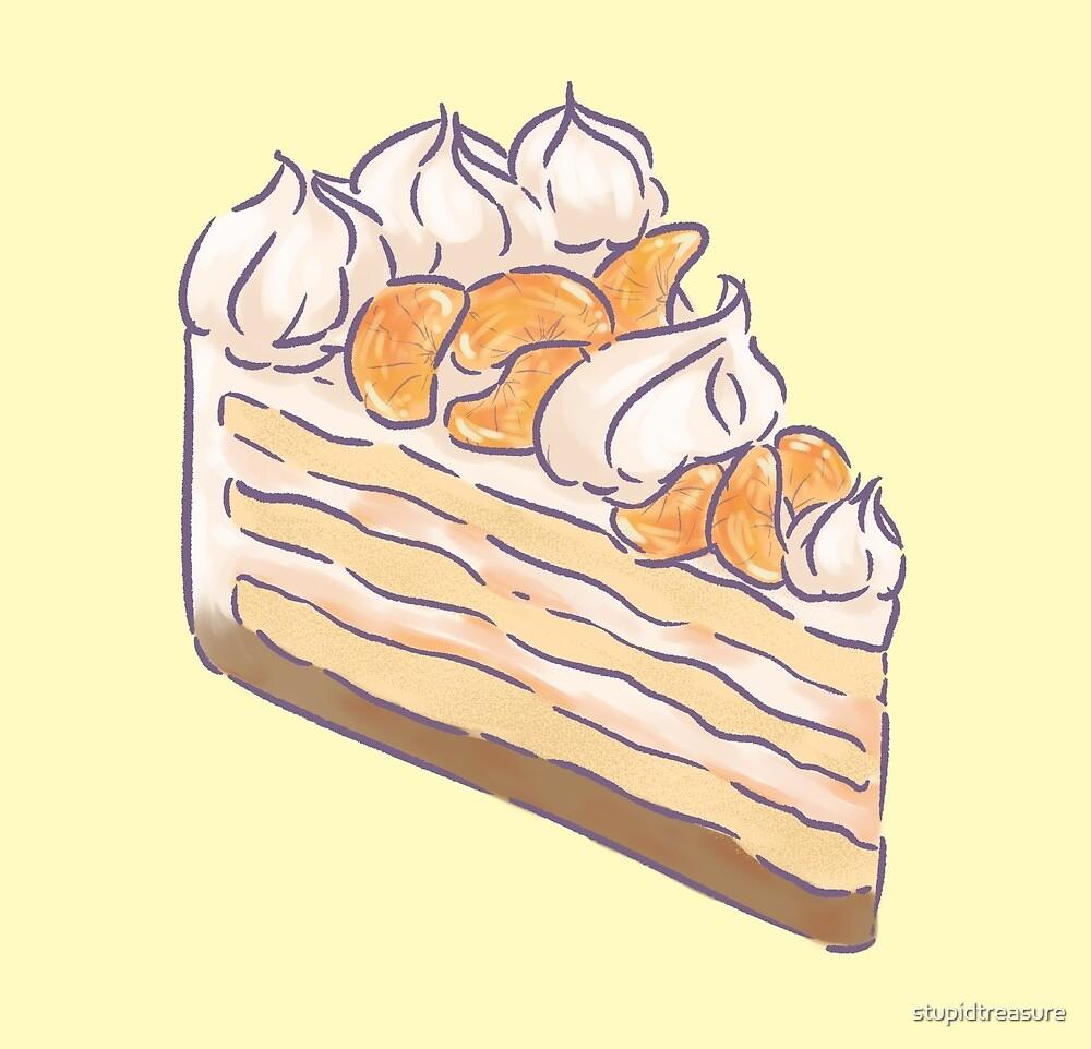 gâteau à la crème orange by stupidtreasure