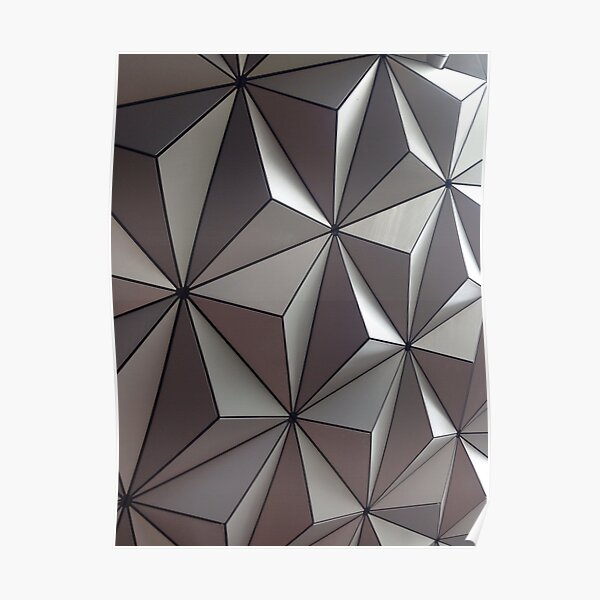 3D Surface, #abstract #pattern #mosaic #design #art #illustration #modern #tile #shape #square #vertical #colorimage #geometricshape #textured #backgrounds #seamlesspattern #triangleshape #styles Poster