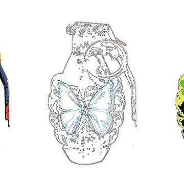 Butterfly Grenade by Rich McLean by RichMcLean